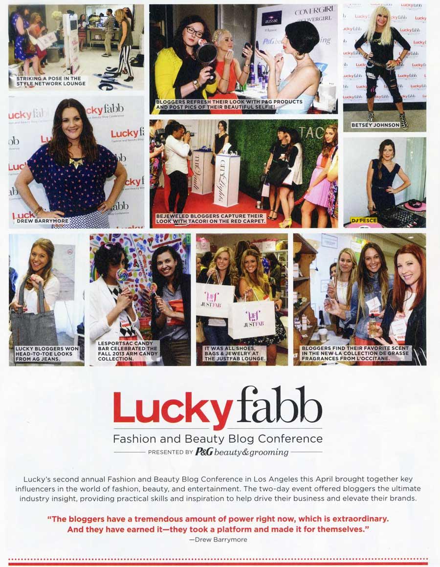 Lucky Magazine August 2013